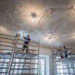 Palais Christalnigg (Klagenfurt am Wörthersee) – Hochbarock Rokoko Stuck Restaurierung und Sicherung in Kalktechnik